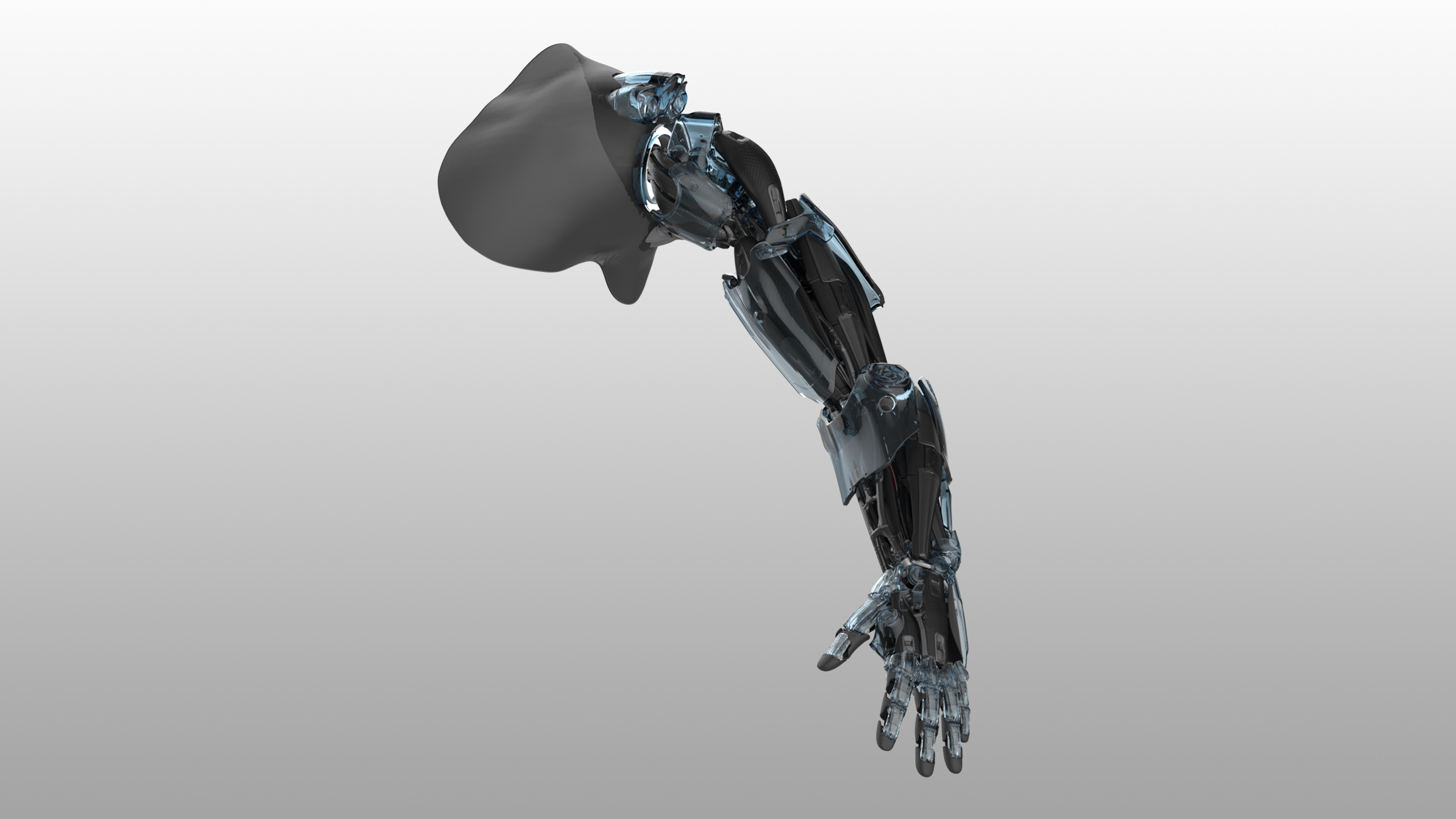 Front view shot of Bionic Arm Concept