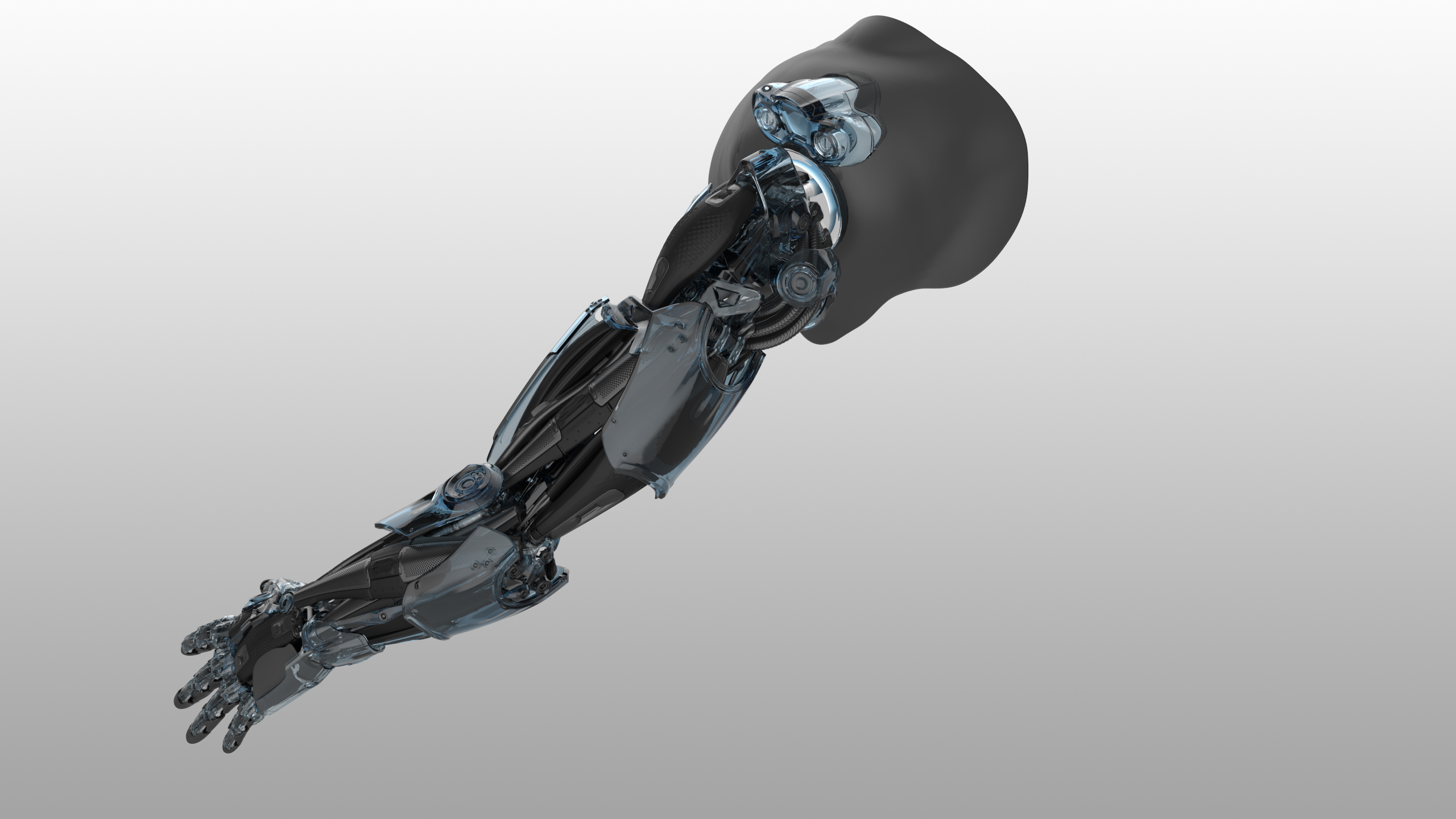 Back view shot of Bionic Arm Concept