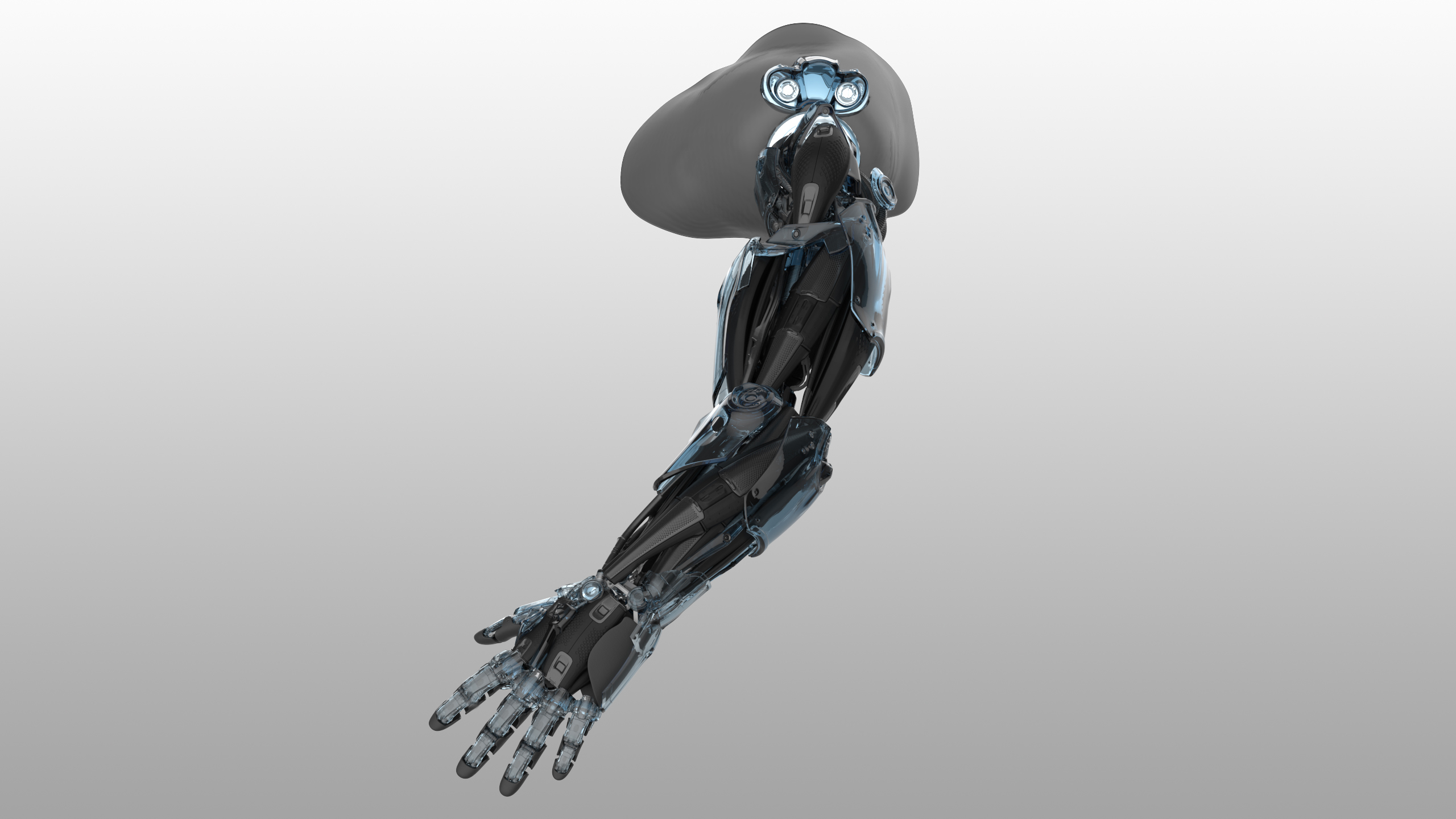 Side view shot of Bionic Arm Concept