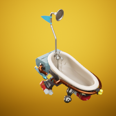 Stylized Hover Tub Vehicle Project