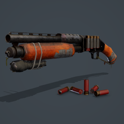 Apocalyptic Shotgun Scene Project