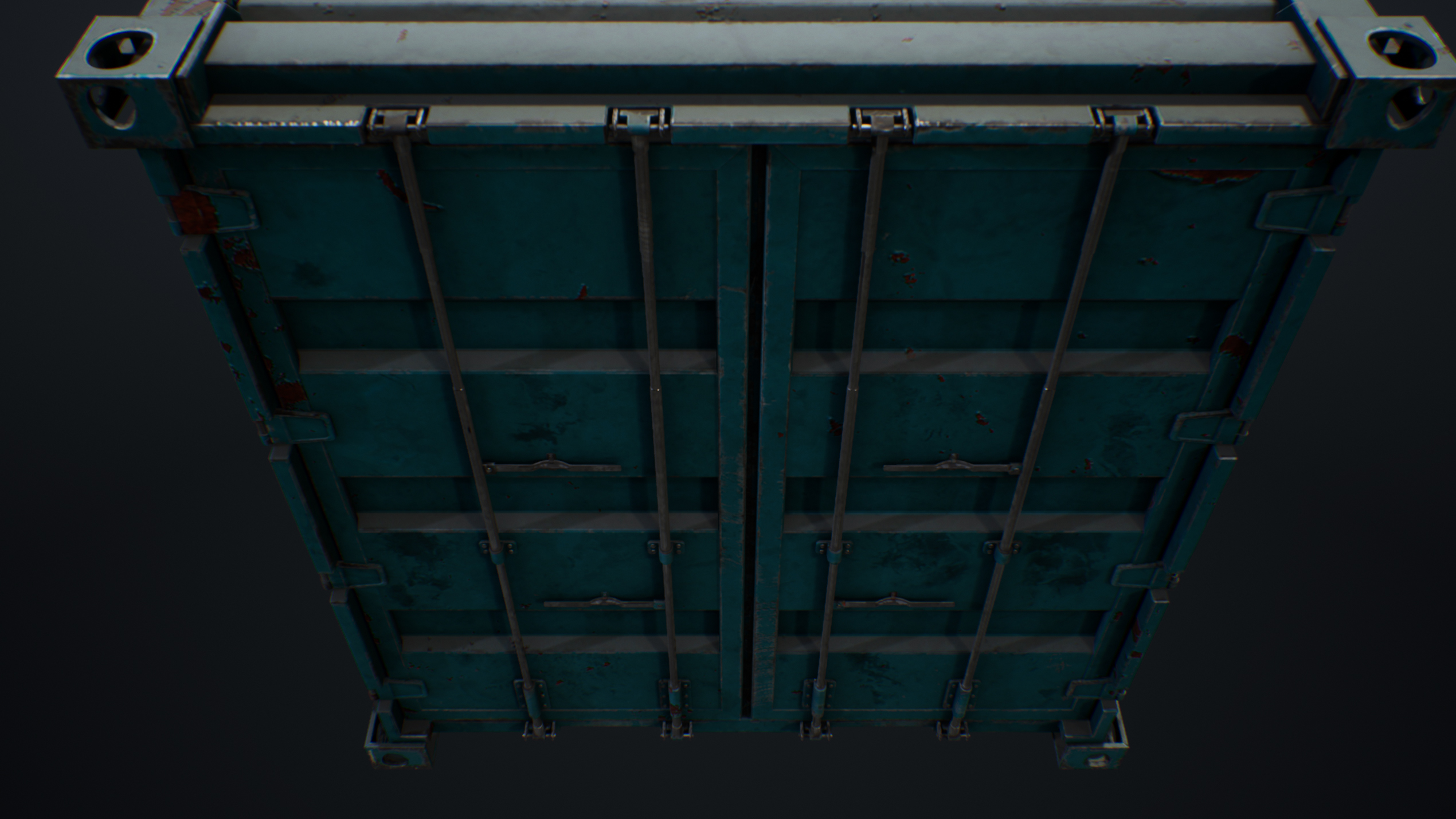 UE4 screenshot detailed shot of the container's close doors
