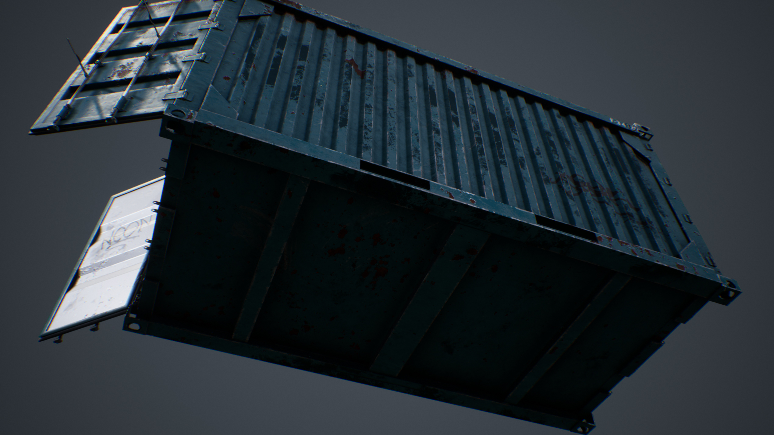 UE4 screenshot bottom up shot of the container