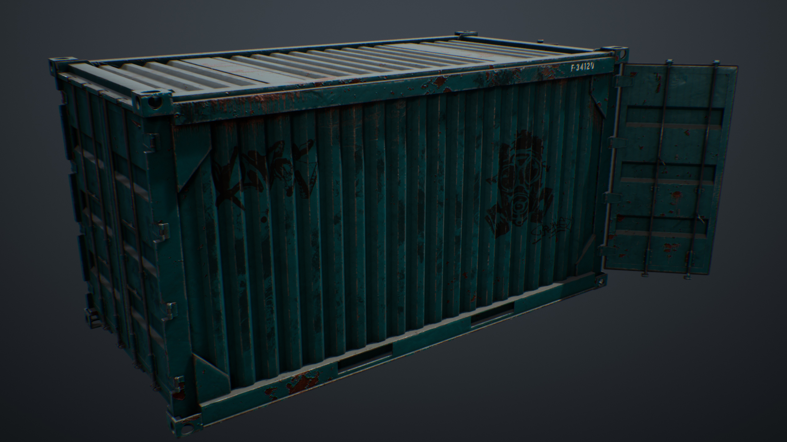UE4 screenshot of the container back view