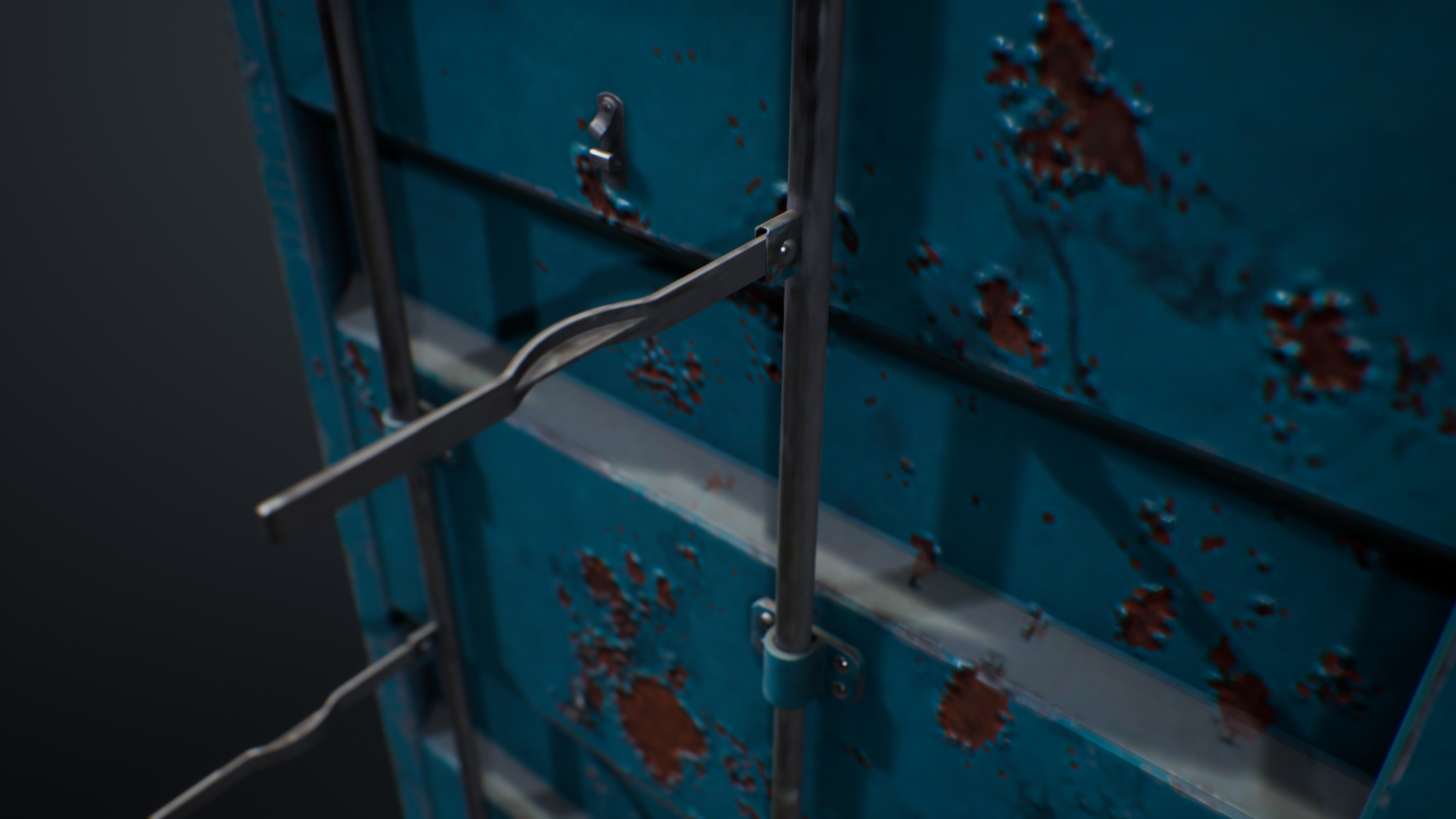 UE4 screenshot detailed shot of the container hinges 2