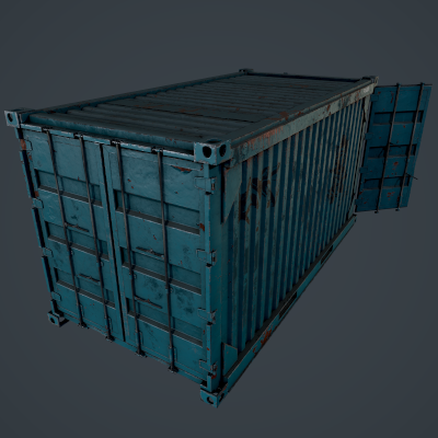 Rusty Container Scene Project