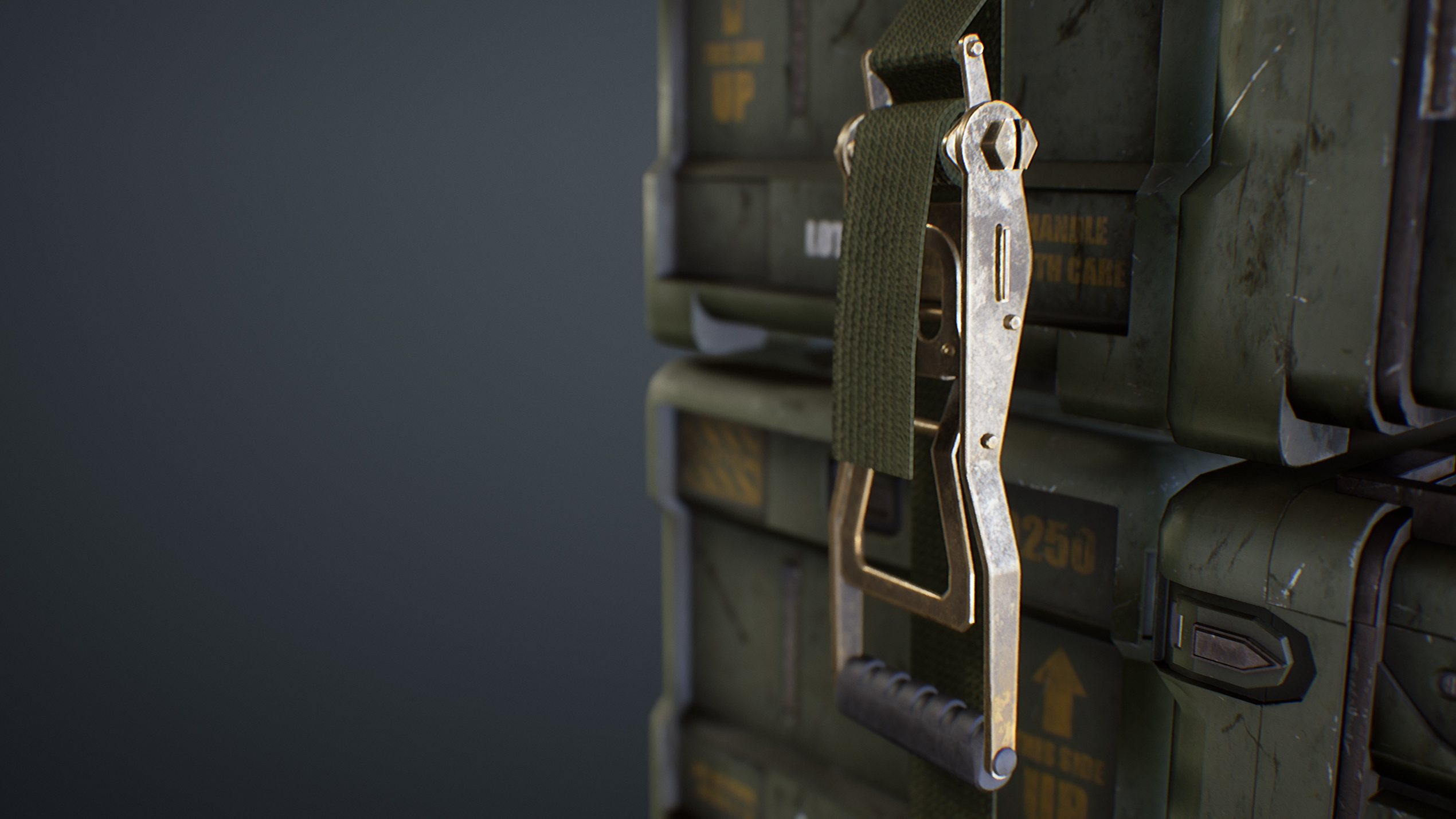 UE4 screenshot close up detailed shot of the straps 1