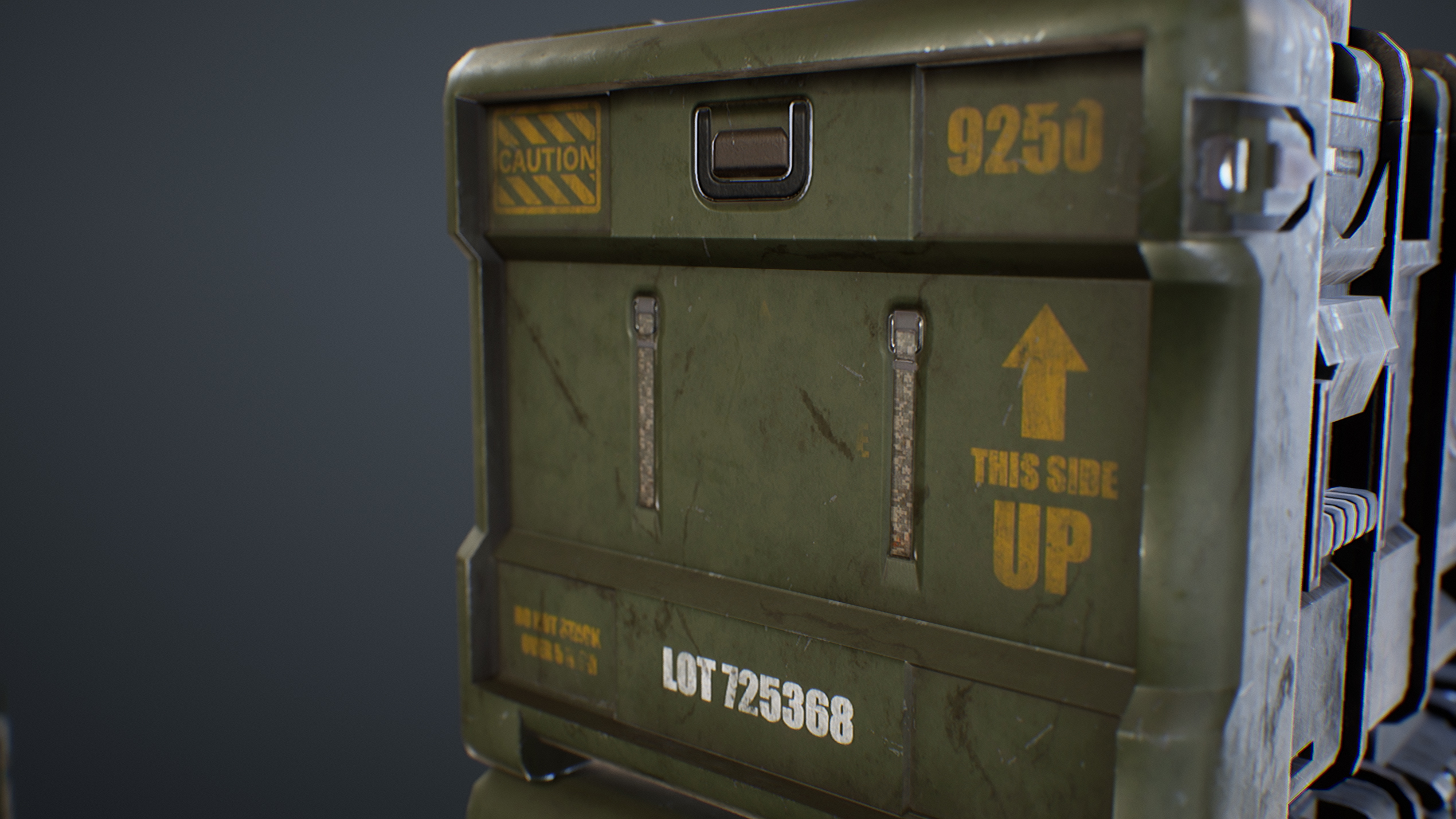 UE4 screenshot close up detailed shot of the crates