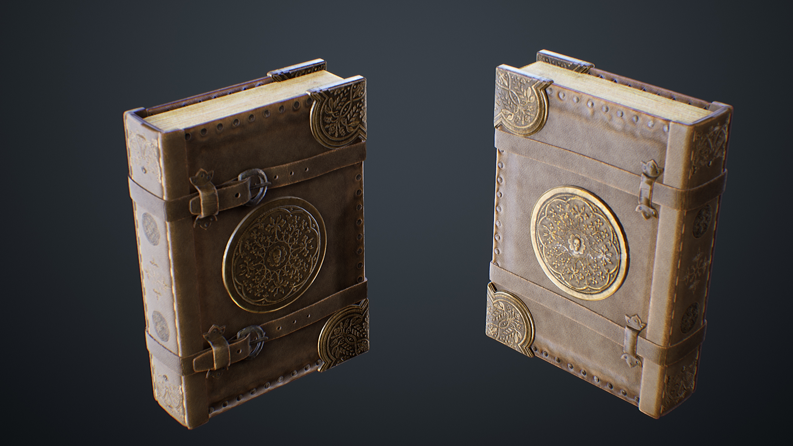 UE4 screenshot close front view detailed shot of the spellbook