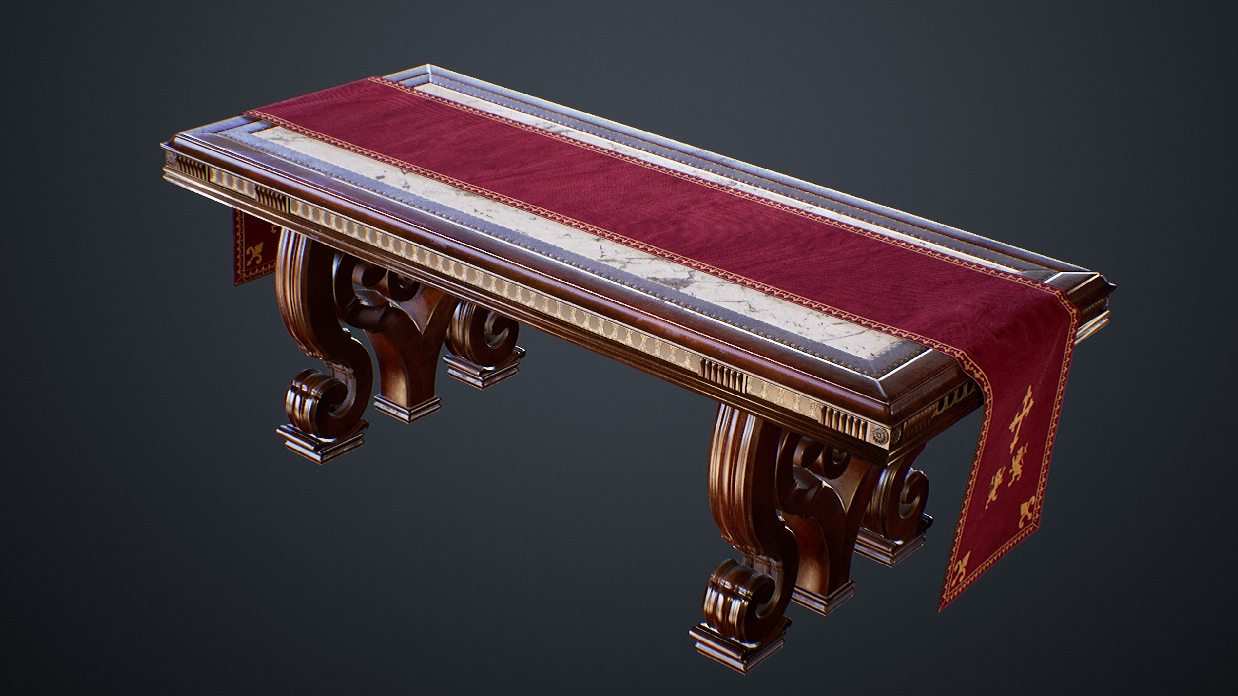 UE4 screenshot of the victorian table