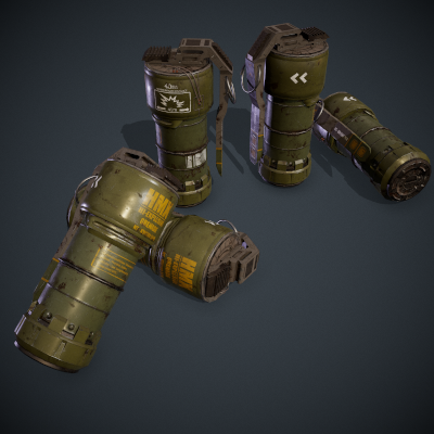 SciFi Grenade Scene Project