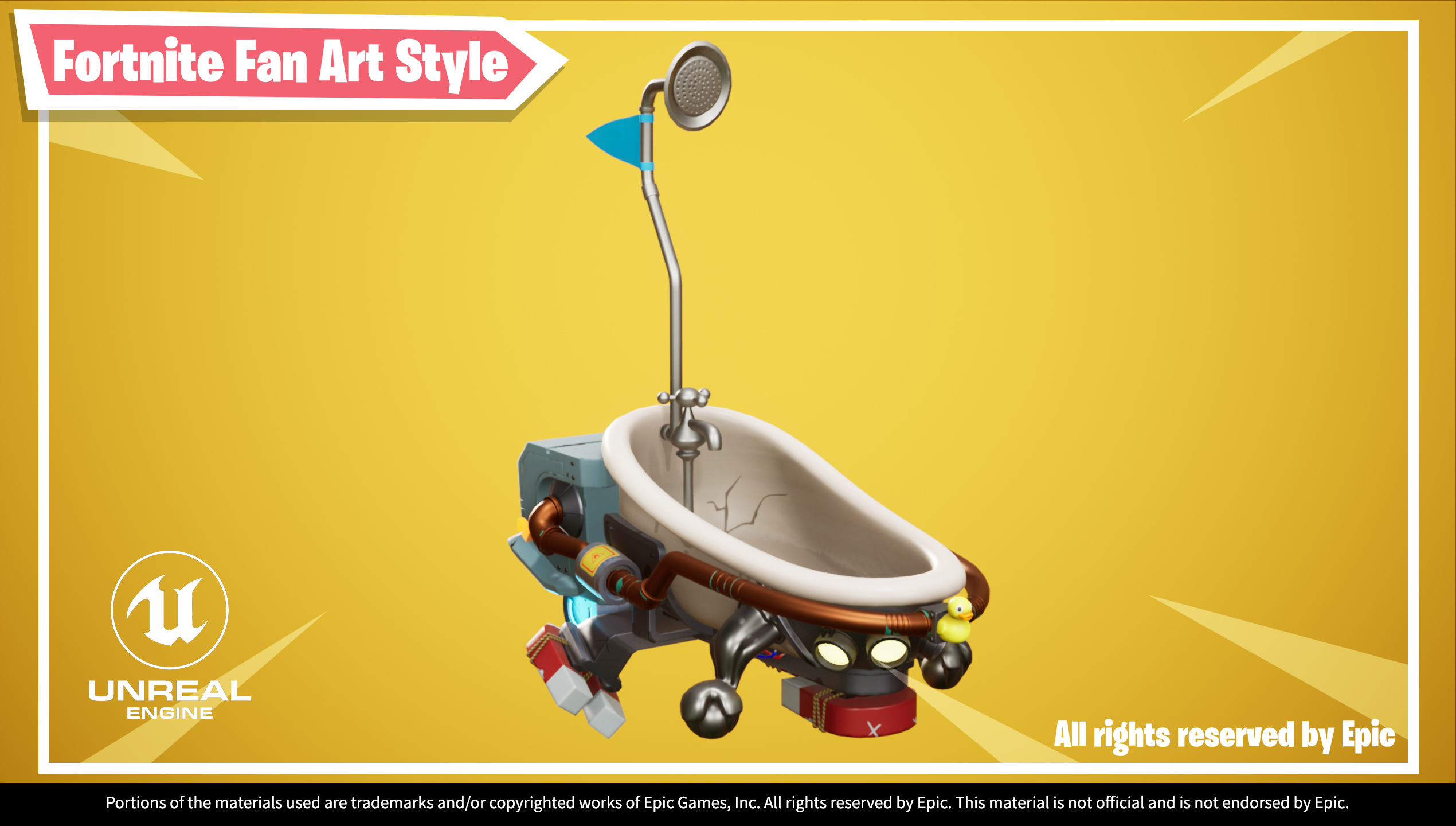 UE4 screenshot of Hover Bath Tub front right view